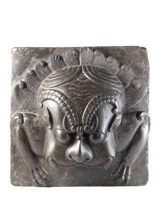 印度 十九世紀 古獸浮雕