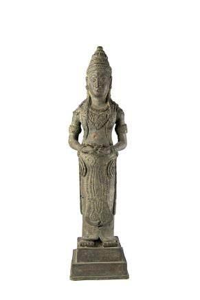 柬埔寨 十九世紀 銅雕神像