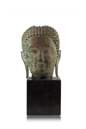 明 銅製佛首像