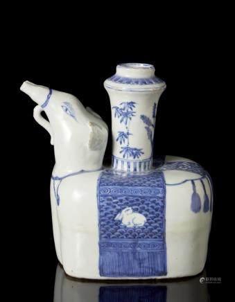 中國 二十世紀 青花象式壺