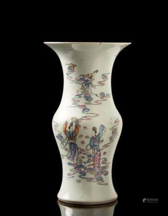 中國 二十世紀 彩繪仙女圖瓷瓶