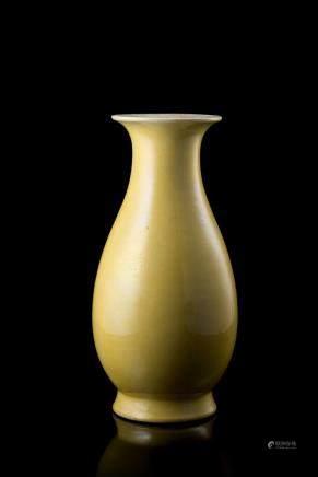 中國 十九世紀 黃釉瓶