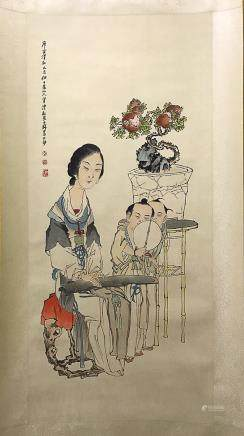 "QIANHUIAN FIGURE ""NOBLE LADY"" PAINTING, QING REIGN"