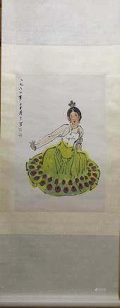 YEQIANYU DAI NATIONALITY DANCING GIRL PAINTING