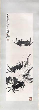 QIBAISHI SHRIMP CRAB PAINTING