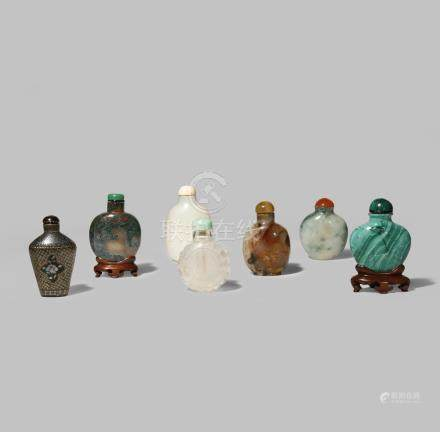 SEVEN CHINESE SNUFF BOTTLES