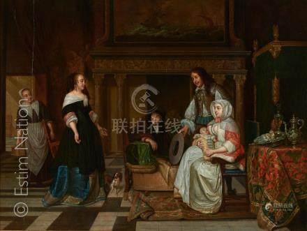 Ecole HOLLANDAISE vers 1800, d'après Pieter de HOOCH