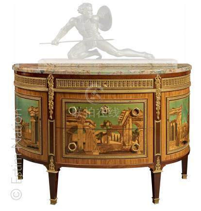 COMMODE DEMI-LUNE