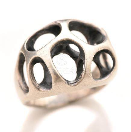 Henry Steig, Modernist, Sterling Ring.