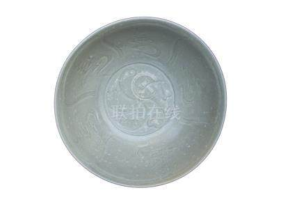 A SONG DYNASTY CÉLADON-GLAZED BOWL <br><br>
