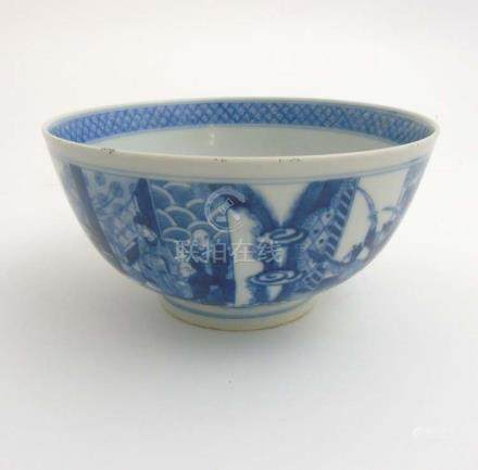 A Chinese blue and white bowl ,