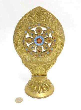 An Oriental Monstrance with the Wheel of Law / Wheel of Dharmachakra,