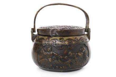 LATE 19TH/EARLY 20TH CENTURY BRONZED MET