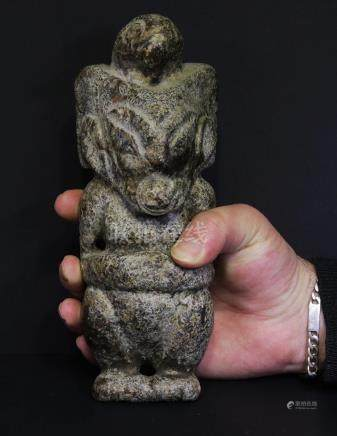 Archaic Jade statue Late Song dynasty 1300 AD. 1757 gr.