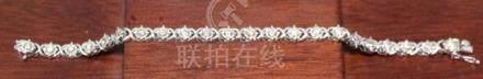 4 CARAT DIAMOND & 14KWG LADIES BRACELET