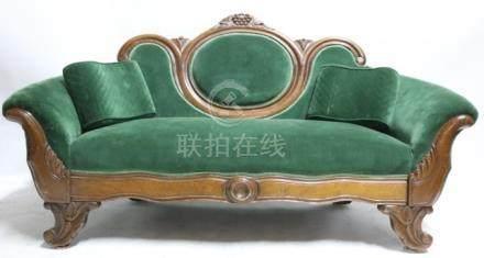 VICTORIAN WALNUT ANTIQUE LOVE SEAT