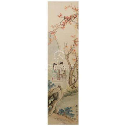 Liu Pei Jing (Chinese, late Qing Dynasty) female figures in