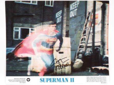 CHRISTOPHER REEVE (AMERICAN ACTOR 1952-2004), AUTOGRAPHED WA