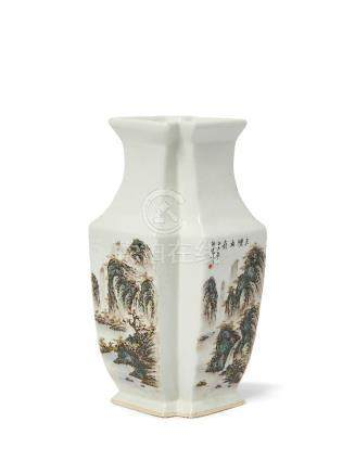A Chinese monochrome porcelain flambe glazed bottle vase, 18th/19th century, with long narrow neck