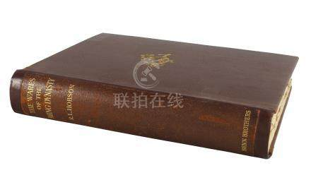Hobson, R.L. The wares of Ming Dynasty, signed limited edition, London: Benn Brothers, Limited, 1923