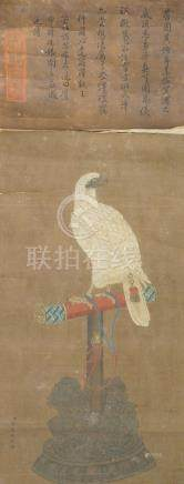 AFTER JIANG TINGXI (Giueseppe Castiglione, 1688-1768), ink and watercolour on silk, hanging