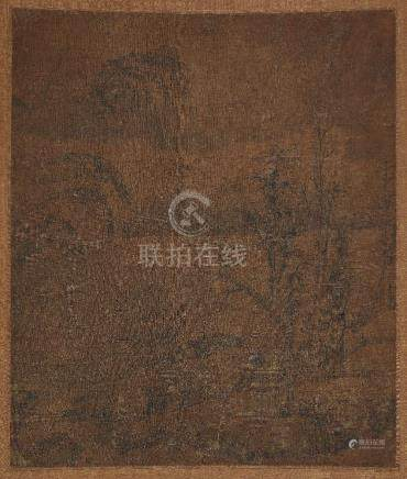 Five Chinese paintings on silk, 17th-19th century, various landscapes, all unsigned, 20cm x 28cm -