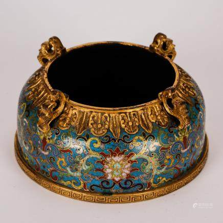 CHINESE CLOISONNE ENAMEL WATER COUPE