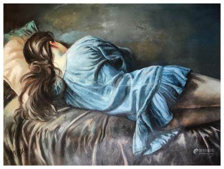 OIL PAINTING SLEEPY WOMEN
