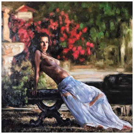 OIL PAINTING    PUERTO RICAN