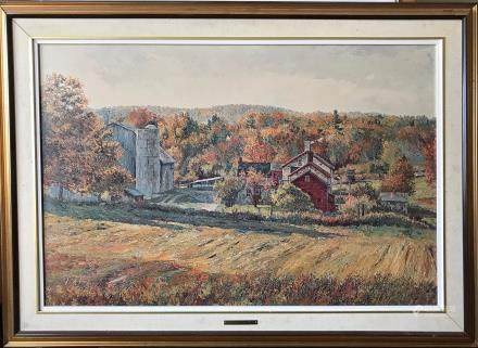 OIL PAINTING    OCTOBER MORNING