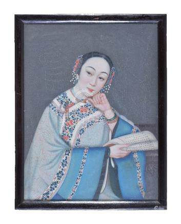 Chinese School, Portraits of Ladies, Qing Dynasty, 19th century