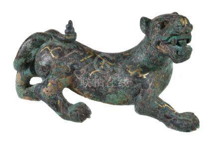 A Chinese archaistic model of a mythical tiger