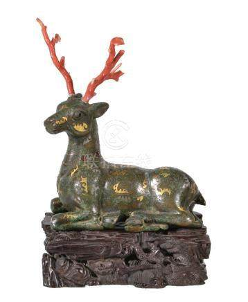 Y A Chinese bronze Warring States style stag