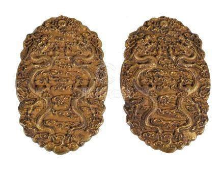 A Chinese gilt bronze 'Dragon' tally