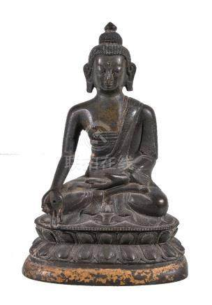 A Sino-Tibetan bronze Buddha