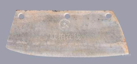 A large Chinese archaistic ceremonial jade or stone blade