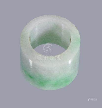 A Chinese jadeite archer's ring