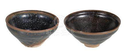 Two Chinese 'Jian' bowls