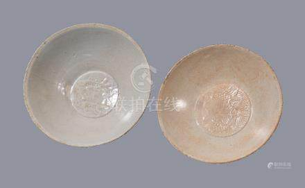 Two Qingbai glazed bowls