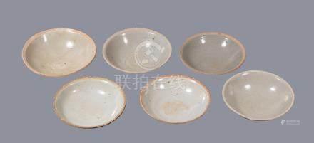 Six Chinese shallow bowls