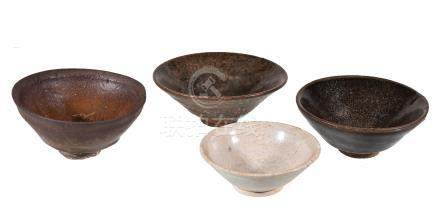Three Chinese 'Jian' bowls