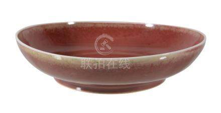 A Chinese copper-red dish