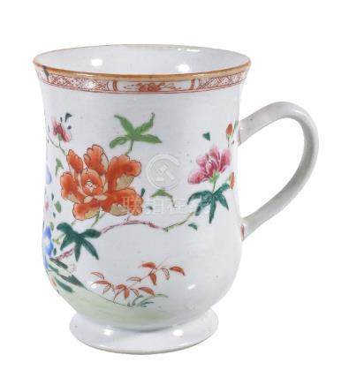 A Chinese Famille Rose bell-shaped Tankard