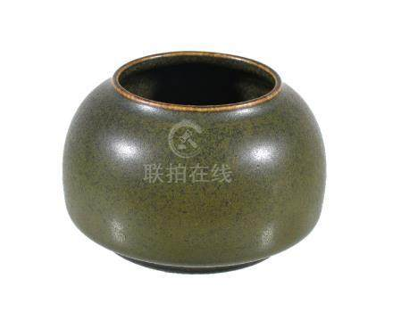 A Chinese tea-dust glazed water pot