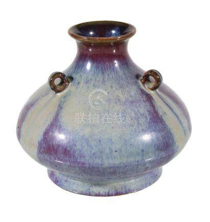 A Chinese flambé glazed vase