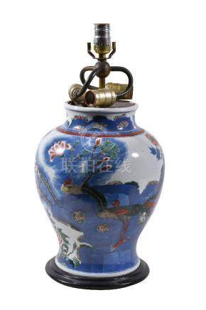 A Chinese 'Wucai' vase