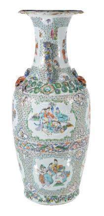A large Cantonese vase