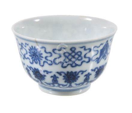 A Chinese blue and white small bowl