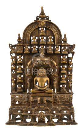 An inscribed copper-alloy 'Jain Tirthankara' shrine