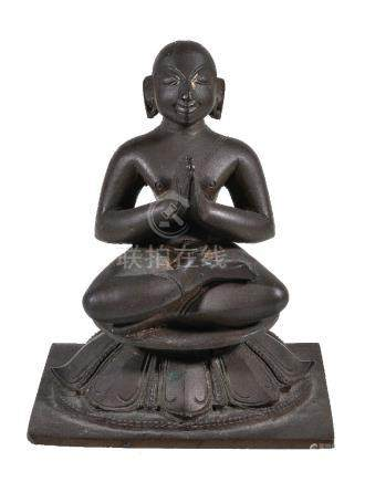 A bronze figure of a Tamil saint, probably Appar, Southern India, 19th century